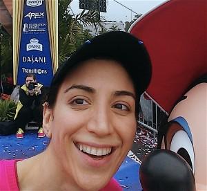 Zahra Paris Disneyland Photobomb