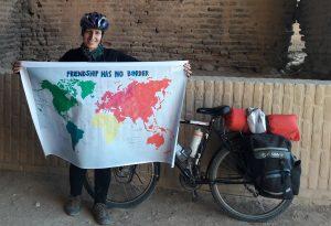 Biker Holding a map