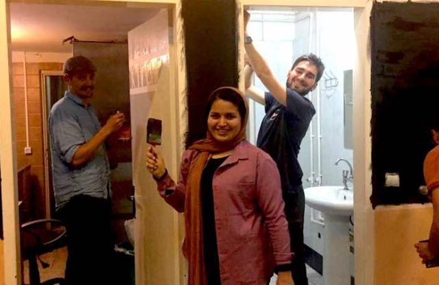 Handymen of Project Colybride Visit OMID Center