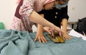 Shawls workshop with omid girls7