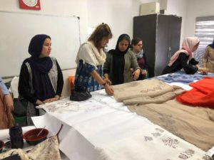 shawl making at OMID3