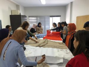shawl making at OMID4