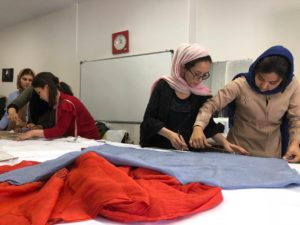shawl making at OMID